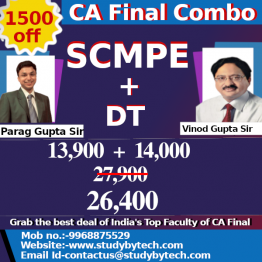 CA FINAL COSTING AND DT COMBO OFFER